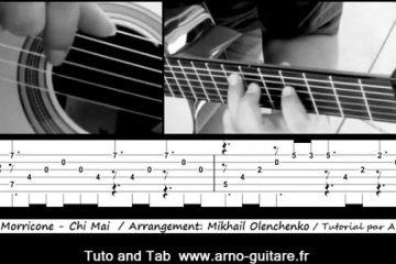 Ennio Moricone – Chi Mai fingerstyle tabs (Arno Mermet)