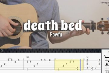 Powfu ft. beabadoobee - death bed fingerstyle tabs