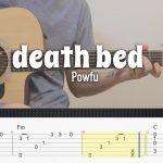 Powfu ft. beabadoobee – death bed fingerstyle tabs
