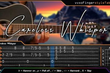 George Michael - Careless Whisper fingerstyle tabs