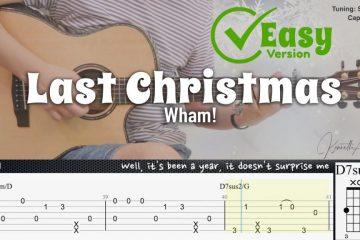 Wham! – Last Christmas fingerstyle tabs