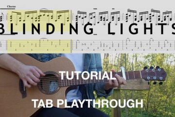 The Weeknd - Blinding Lights fingerstyle tabs