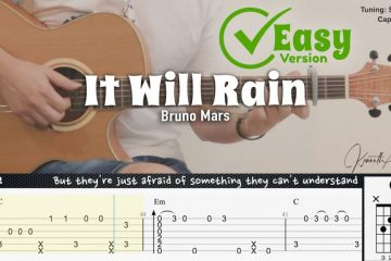Bruno Mars – It Will Rain fingerstyle tabs