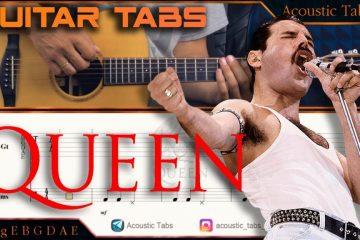Queen – We Will Rock You fingerstyle tabs